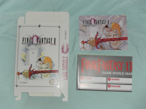 Final Fantasy II Box and Manua and map Combo for Nintendo NES