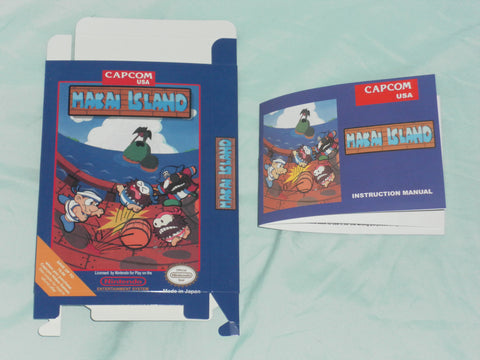 Makai Island Box and Manual Combo for Nintendo NES