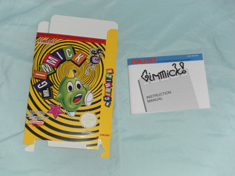 Mr. Gimmick Box and Manual Combo for Nintendo NES