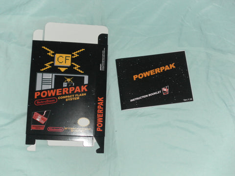 Powerk Pak Box and Manual Combo for Nintendo NES