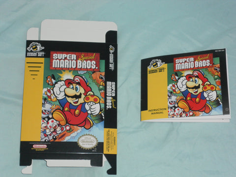 Super Mario Brothers Special Box and Manual Combo for Nintendo NES