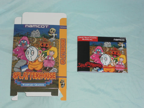 Splatterhouse Box and Manual Combo for Nintendo NES