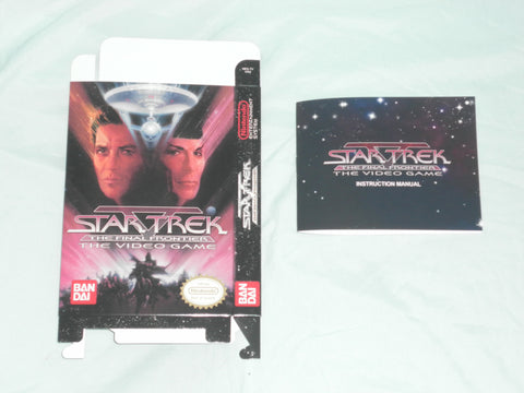 Star Trek V The Final Frontier Box and Manual Combo for Nintendo NES