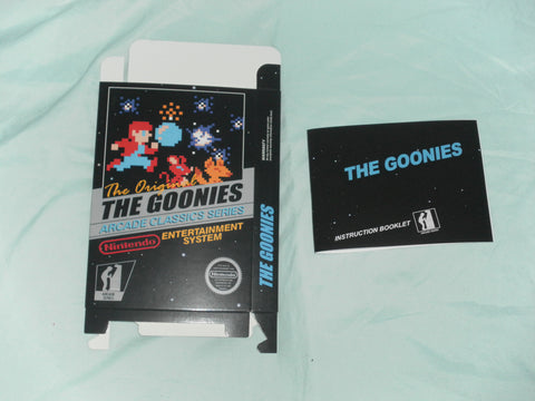 The Goonies Box and Manual Combo for Nintendo NES