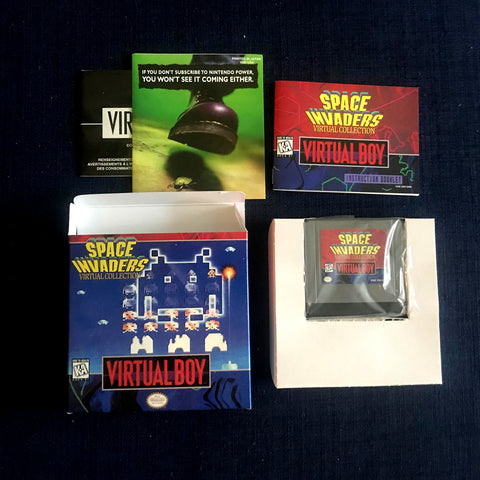 Space Invaders for Virtual Boy Complete in Box