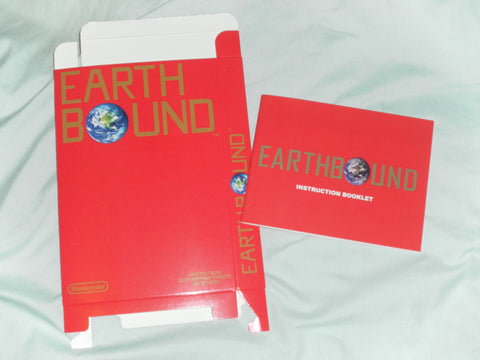 Earthbound Box and Manual Combo for Nintendo NES