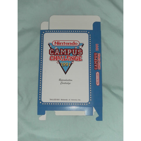 NES Campus Challenge 1992 for Nintendo NES Box Only