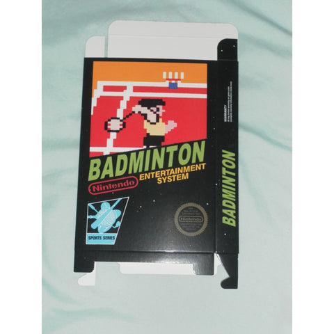 Badminton for Nintendo NES Box Only