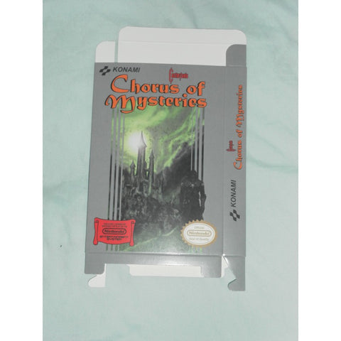 Castlevania - Chorus of Mysteries for Nintendo NES Box Only