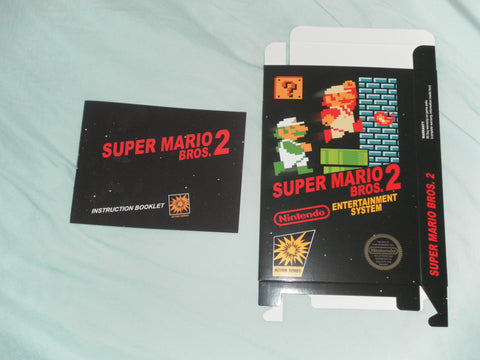 Super Mario Brothers 2 Japanese Box and Manual Combo for Nintendo NES