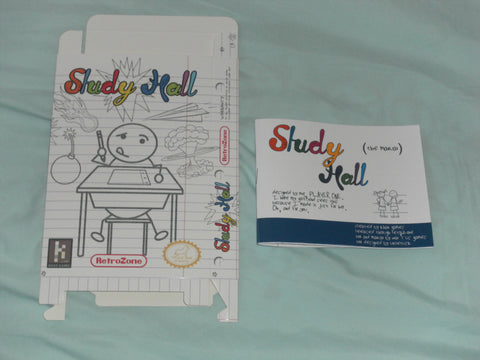Study Hall Box and Manual Combo for Nintendo NES