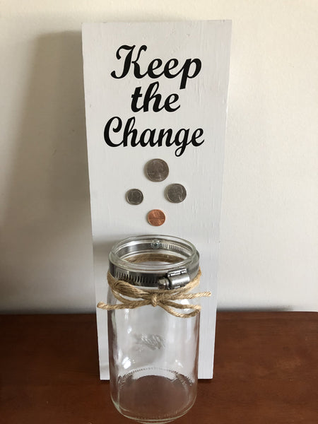"""Keep the Change"" Wall Decor"