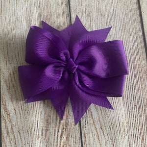 Grosgrain Pinwheel Hair Bow
