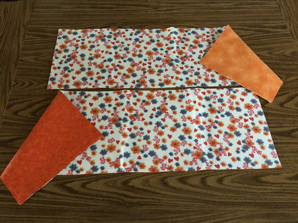 Bright Hearts & Flowers Table Runner