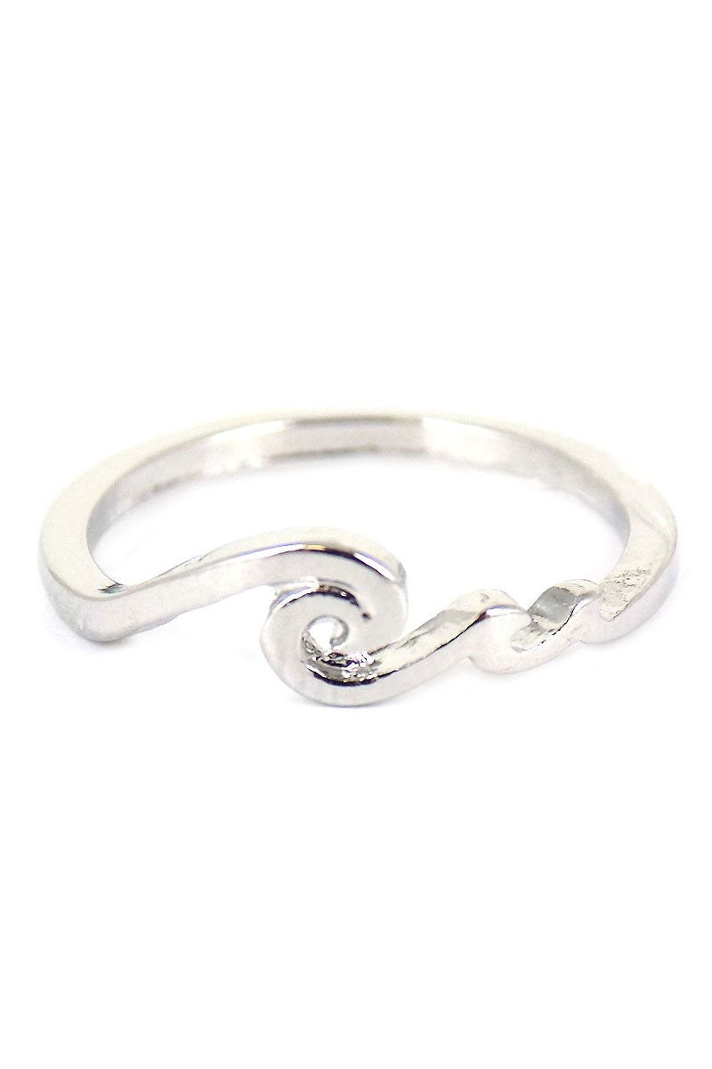 Silver-tone Breaking Wave Ring