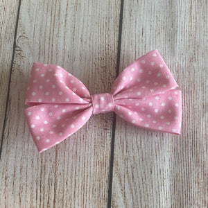 "5"" Double Loop Fabric Hair Bow"