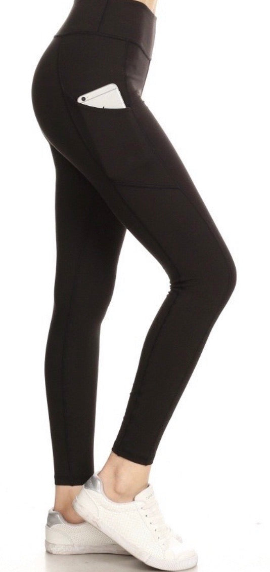 Black Yoga High Waist Leggings