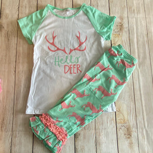 Mint & Pink Capri Set {Hello Deer}