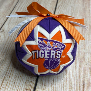 Clemson Tigers Quilted Ornament
