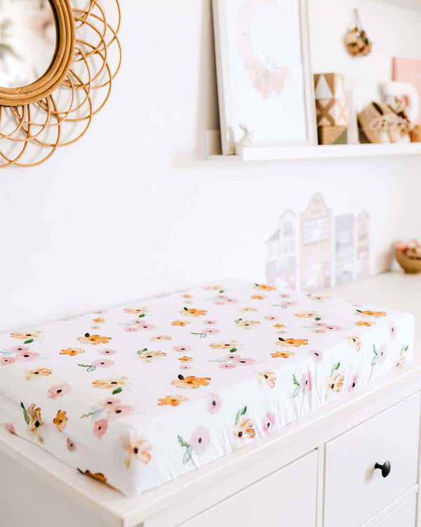 Poppy • Fitted Bassinet Sheet / Change Pad Cover