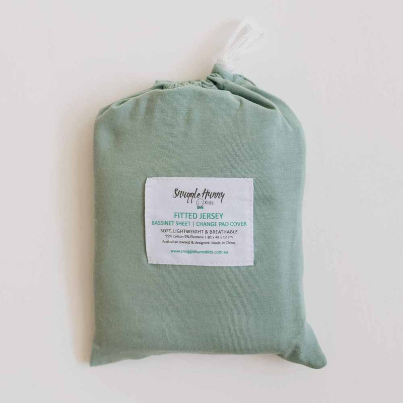 Sage • Fitted Bassinet Sheet / Change Pad Cover