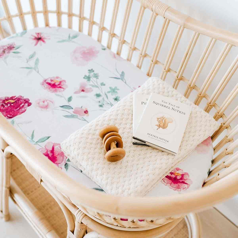 Wanderlust • Fitted Bassinet Sheet / Change Pad Cover