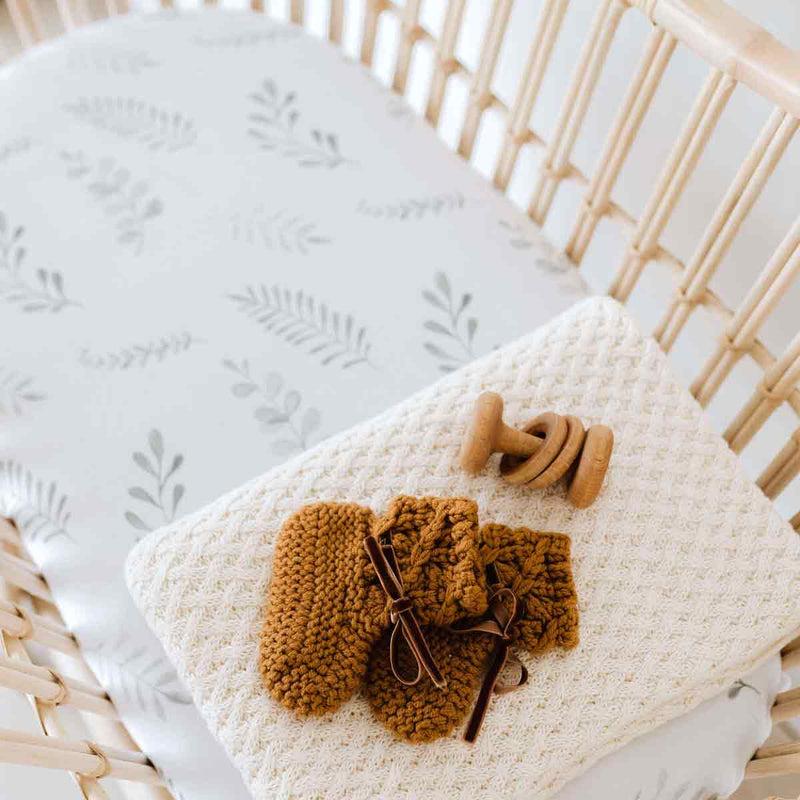 Wild Fern • Fitted Bassinet Sheet / Change Pad Cover