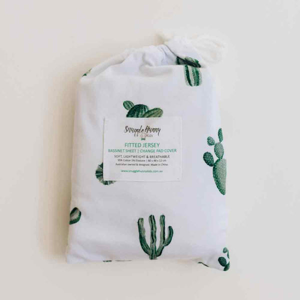 Cactus • Fitted Bassinet Sheet / Change Pad Cover