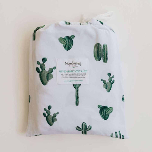 Cactus • Fitted Cot Sheet