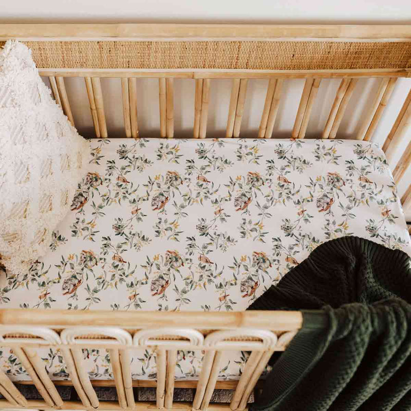 Eucalypt • Fitted Cot Sheet