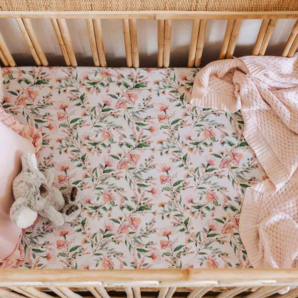 Wattle • Fitted Cot Sheet