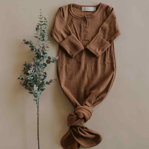 Chestnut Organic Knotted Gown
