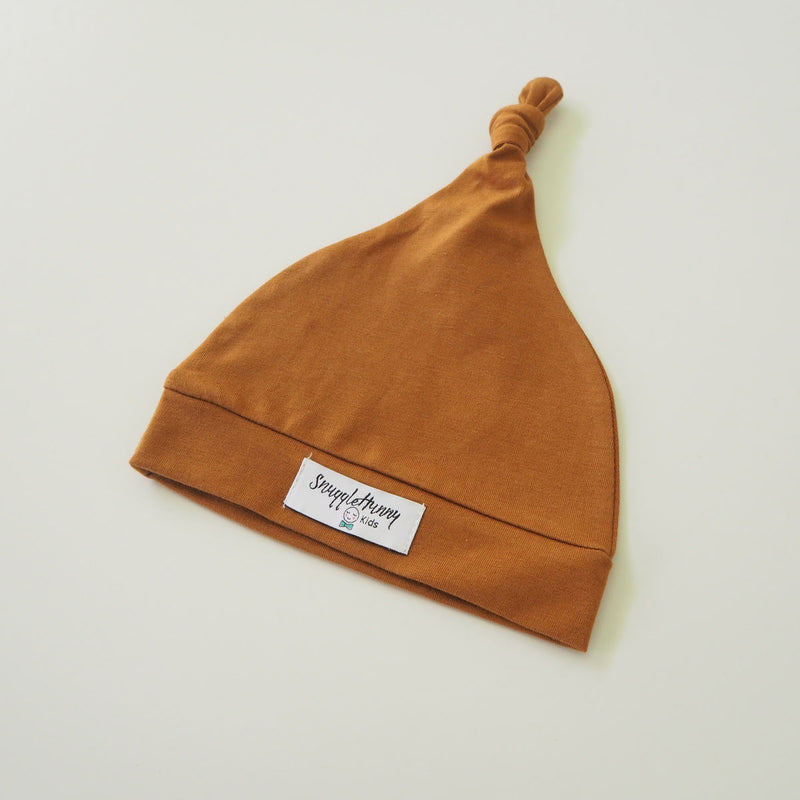 Knotted Beanie • Bronze - OH MIA BAMBINA
