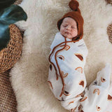 Rainbow Rust Muslin Swaddle