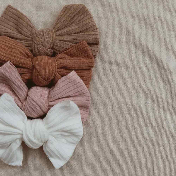 Ribbed Bow Headband