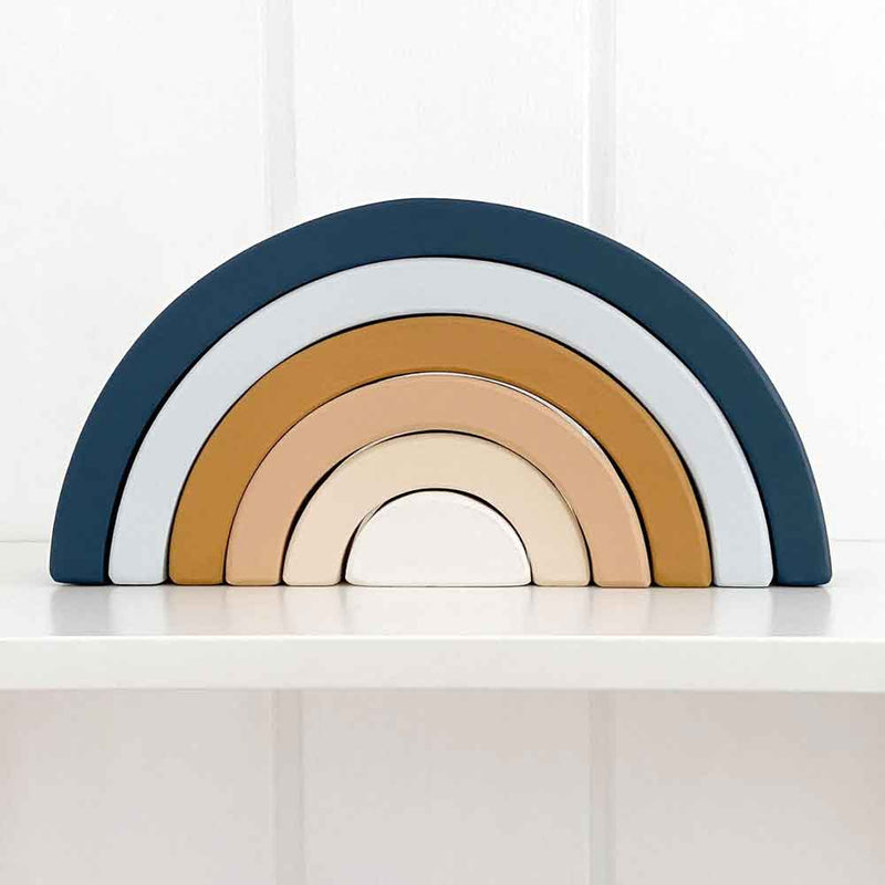Wooden Rainbow ∙ Navy & Mustard
