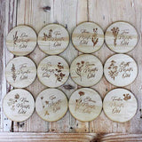 Wooden Monthly Milestone Plaques