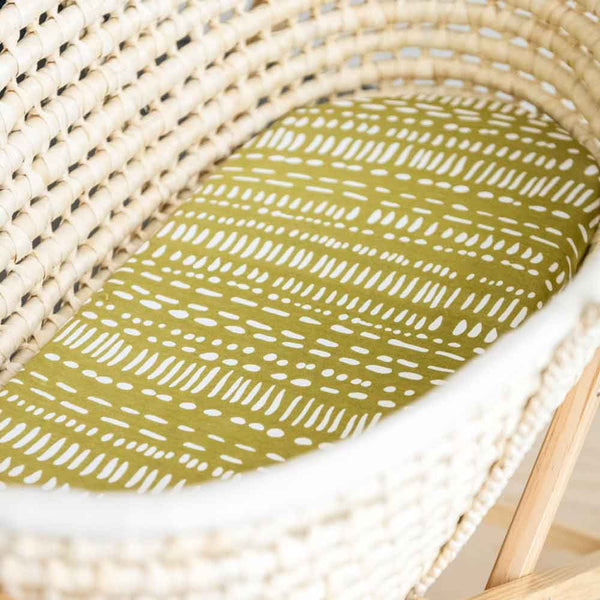 Moss • Fitted Moses Basket Sheet