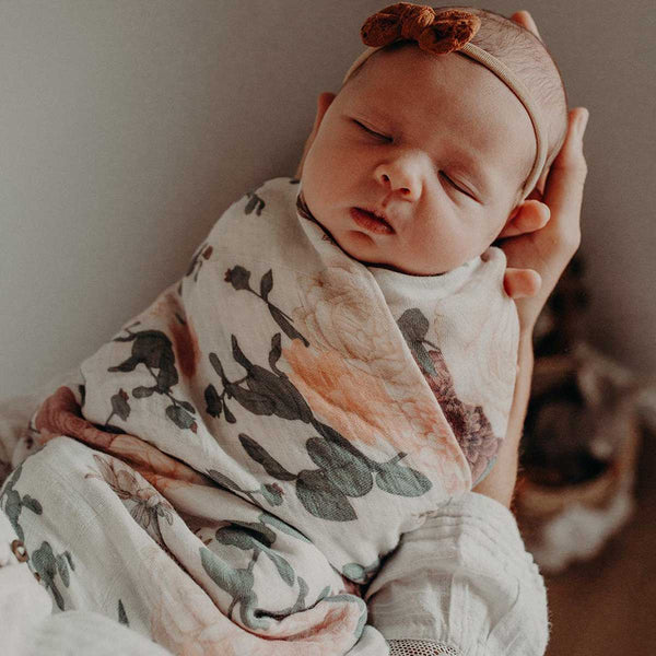 Botanical Muslin Swaddle