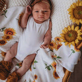 Sunflower • Organic Muslin Wrap