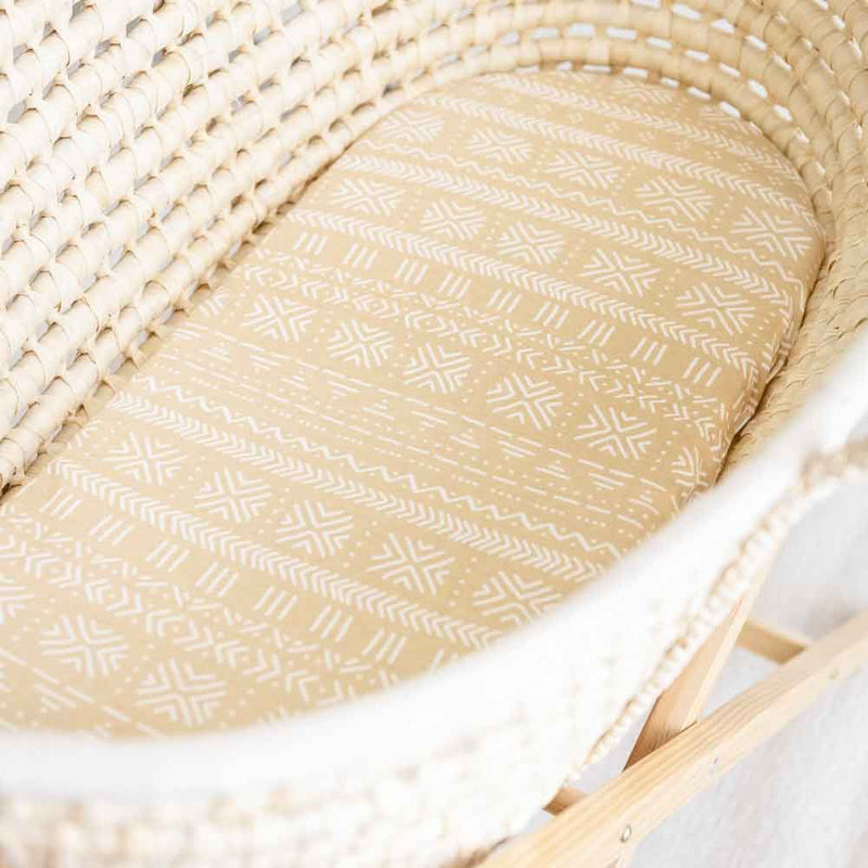 Sand • Fitted Moses Basket Sheet