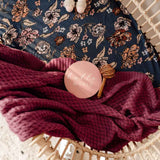 Mauve • Diamond Knit Baby Blanket