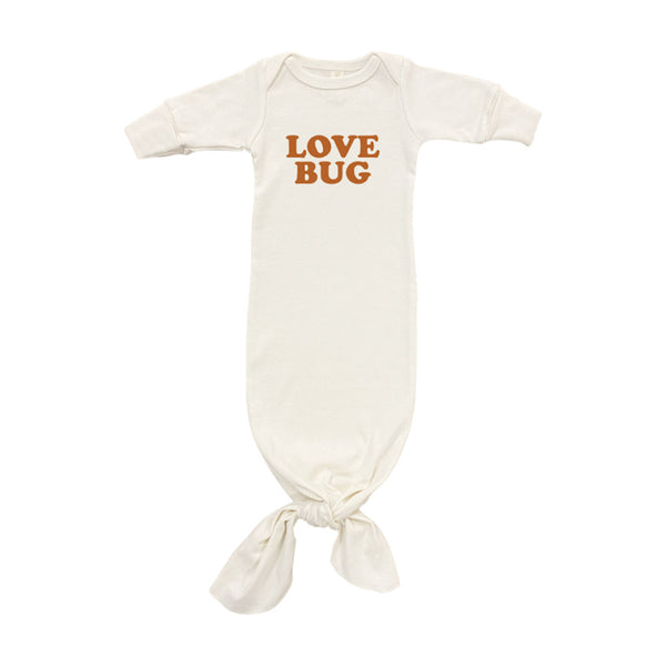 Love Bug Organic Infant Gown • Rust
