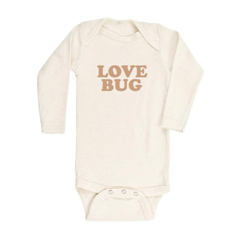 Love Bug Organic Bodysuit • Clay