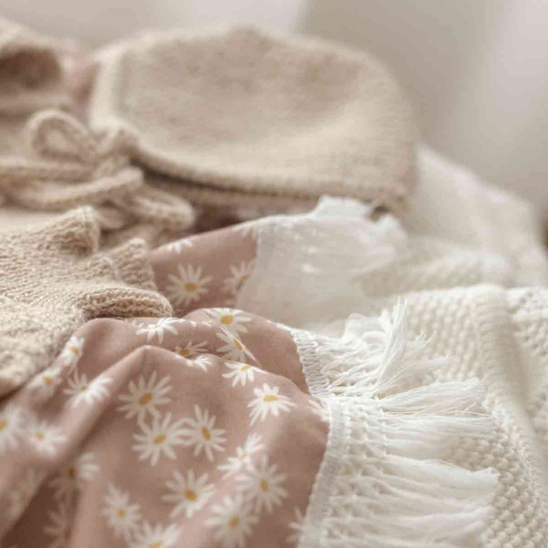 Mini Daisy Fringe Swaddle