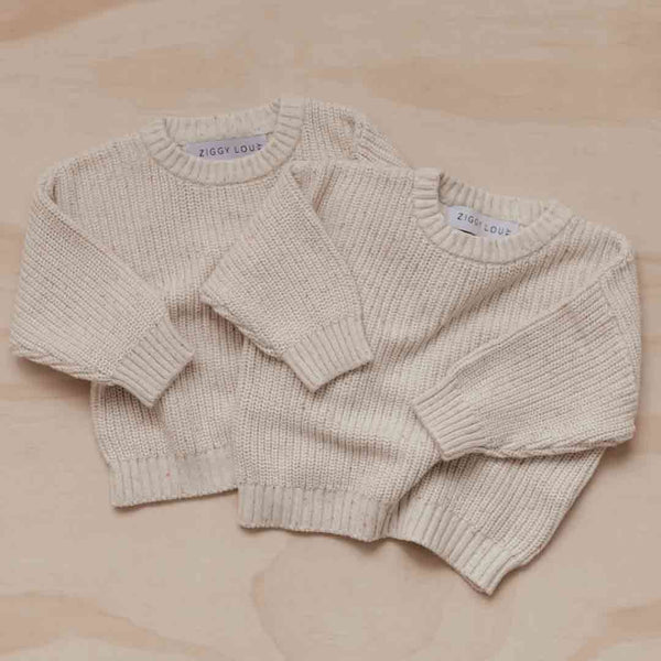 Knit Jumper • Oatmeal Fleck