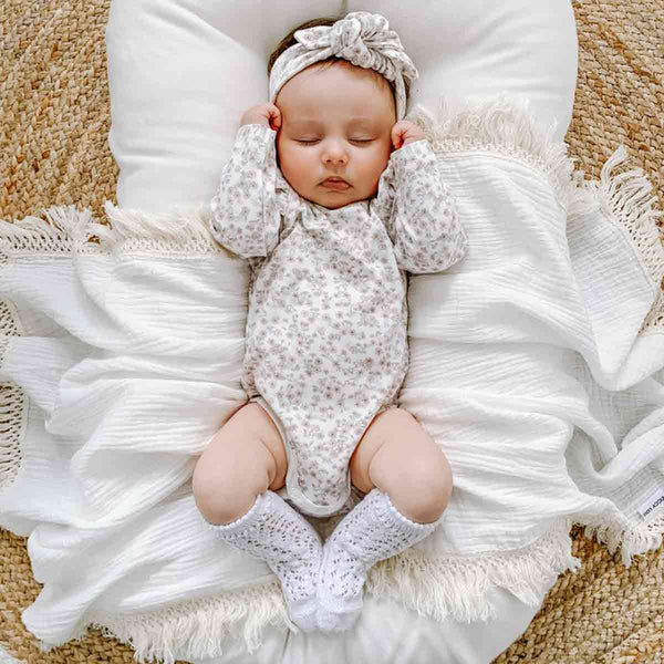 Cream Fringe Swaddle (Natural Fringe)