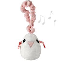 Baby Gift Soft Bouncy Bird Sound Play Toy (Organic) -Tweet Pink