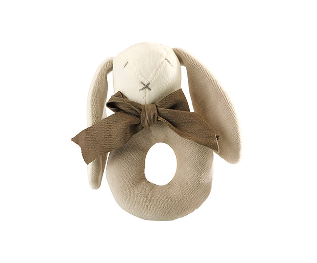 Organic Ears the Donut Rattle – Maud n Lil Organic Cotton Toys Front