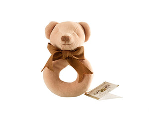 Cubby the Teddy Bear Donut Rattle – Maud n Lil Organic Cotton Toys